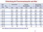 entwicklung der frauenerwerbsquote nach alter