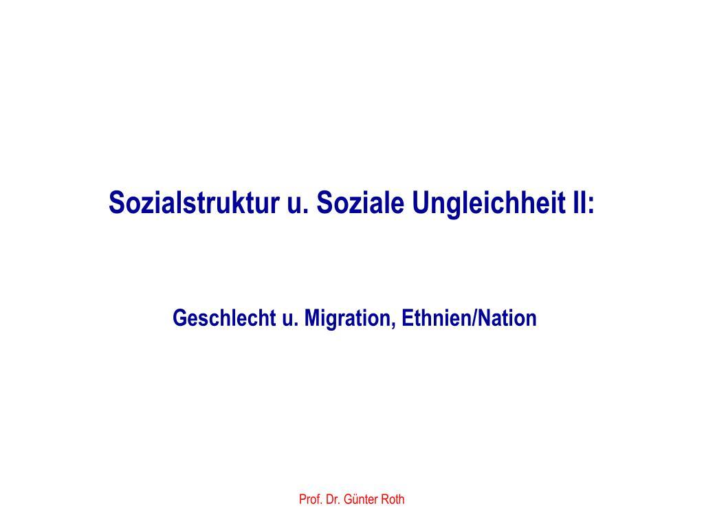 sozialstruktur u soziale ungleichheit ii l.