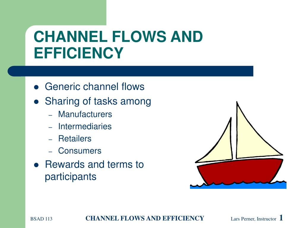 channel flows and efficiency l.