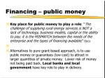 financing public money