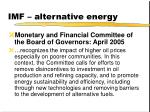 imf alternative energy