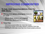 improving commodities11