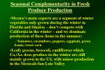 seasonal complementarity in fresh produce production