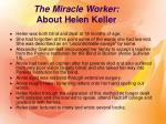 the miracle worker about helen keller
