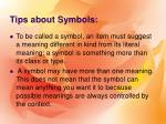 tips about symbols