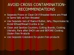 avoid cross contamination recommendations