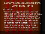 culinary standards seasoned pork cuban brand 98465