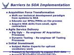 barriers to soa implementation