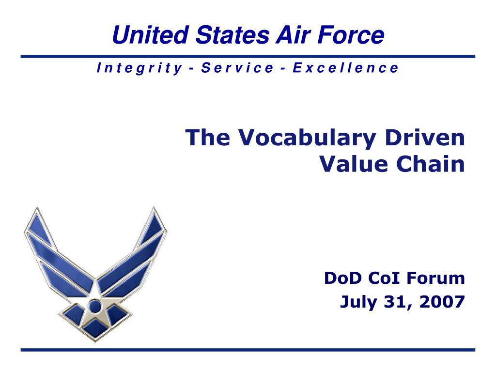 the vocabulary driven value chain l.