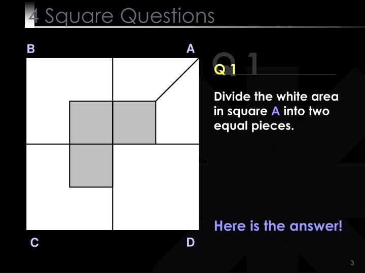 4 square questions3