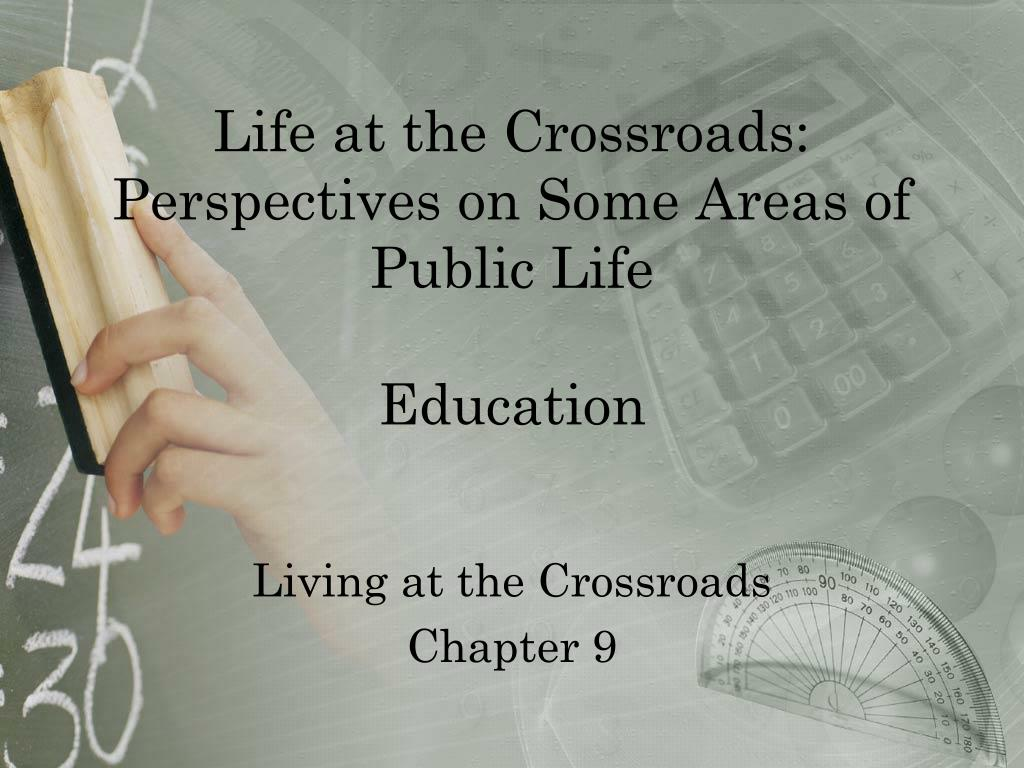 life at the crossroads perspectives on some areas of public life education l.