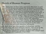 sketch of human progress