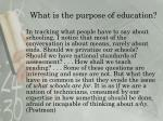 what is the purpose of education