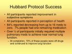 hubbard protocol success