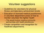 volunteer suggestions