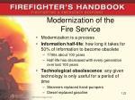 modernization of the fire service