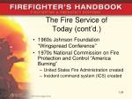 the fire service of today cont d