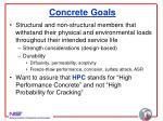 concrete goals