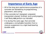 importance of early age