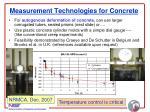 measurement technologies for concrete