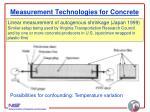 measurement technologies for concrete18