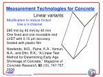 measurement technologies for concrete20