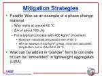 mitigation strategies31