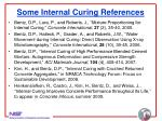 some internal curing references