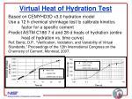 virtual heat of hydration test
