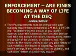 enforcement are fines becoming a way of life at the deq12