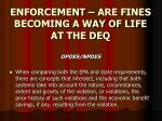 enforcement are fines becoming a way of life at the deq13
