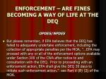 enforcement are fines becoming a way of life at the deq14