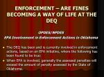 enforcement are fines becoming a way of life at the deq16