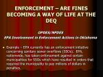 enforcement are fines becoming a way of life at the deq17