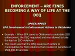 enforcement are fines becoming a way of life at the deq18
