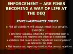 enforcement are fines becoming a way of life at the deq22