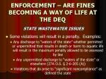 enforcement are fines becoming a way of life at the deq23