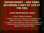 enforcement are fines becoming a way of life at the deq24