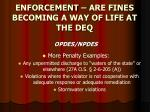 enforcement are fines becoming a way of life at the deq8