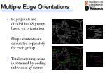 multiple edge orientations