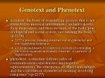 genotext and phenotext
