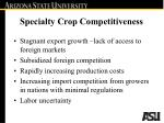 specialty crop competitiveness