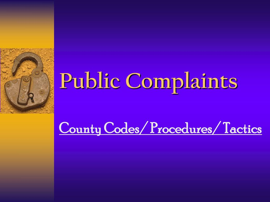 public complaints l.