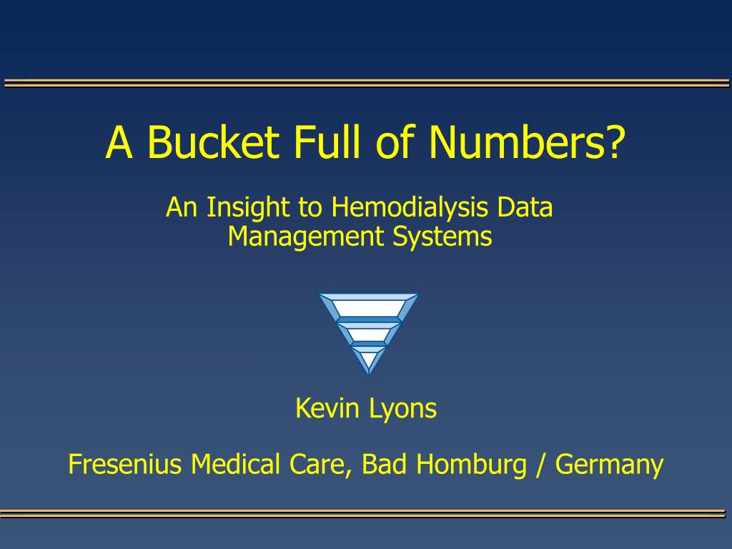 a bucket full of numbers l.