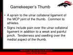 gamekeeper s thumb