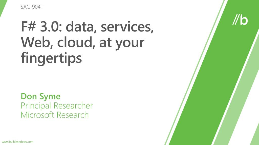 f 3 0 data services web cloud at your fingertips l.