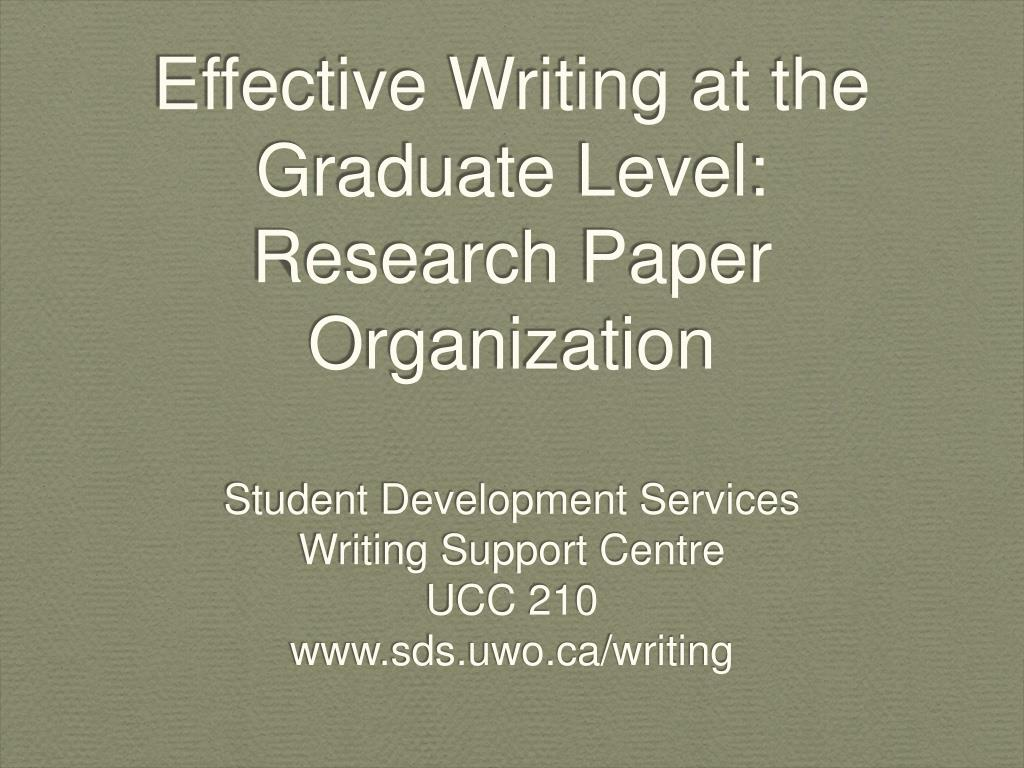 Paper writers graduate level