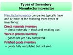 types of inventory manufacturing sector