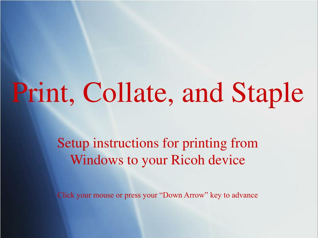 print collate and staple l.