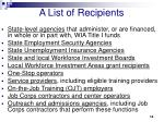 a list of recipients
